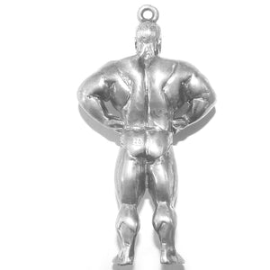 Muscle man pendant sterling silver or gold