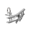 Biplane aircraft charm sterling silver pendant