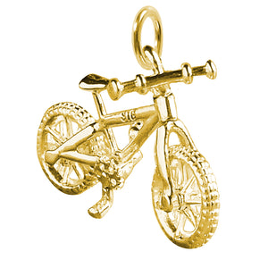 Gold Mountain Bike Charm