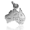 Australia Map Charm Sterling Silver Pendant