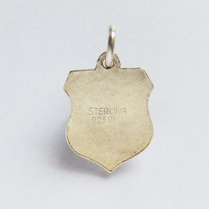 Vintage REU Enamel Sterling Silver South Australia Travel Shield Charm