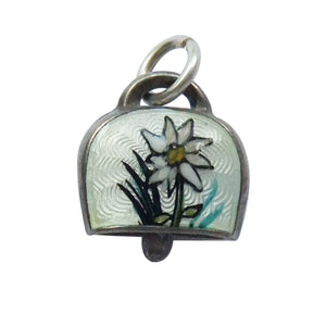 Vintage Bell Charm Edelweiss Flower