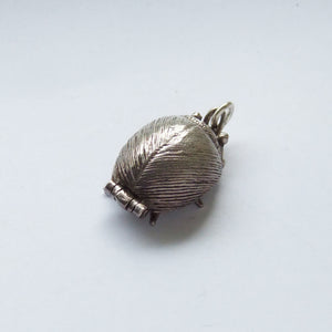 Beetle Charm Vintage Silver Beatles Fab Four Opening