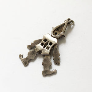Antique articulated clown pendant