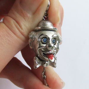 Vintage Monet Clown Head Charm Tongue sticks out