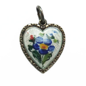 Vintage Enamel David Andersen Forget Me Not Flower Charm