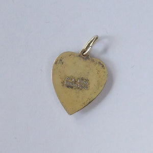 Reverse of David Andersen blue forget me not heart charm
