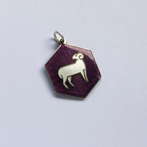 David Andersen Enamel Aries the Ram Zodiac Charm