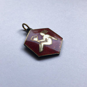 David Andersen Enamel Virgo Hexagon Zodiac Charm