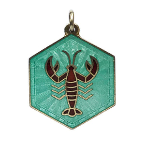 David Andersen Enamel Cancer Zodiac Charm