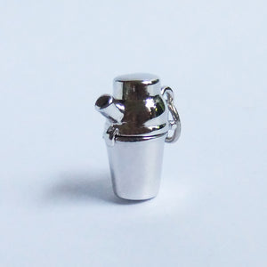 Vintage Sterling Silver Cocktail Shaker with Devil Charm