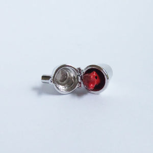 Vintage Sterling Silver Cocktail Shaker Red Devil Charm