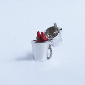 Vintage Sterling Silver JMF Cocktail Shaker Drink Devil Charm