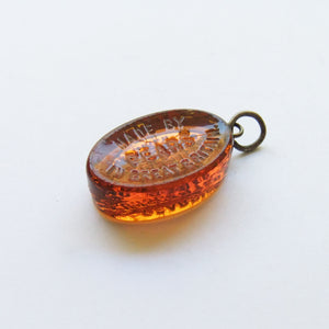 Vintage Glass Pears Soap Pendant