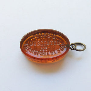 Amber Glass Pears Soap Charm Vintage