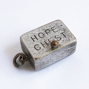 Vintage Hope Chest Charm Sterling Silver