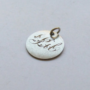 Victorian Love Token Coin Lil Name Antique