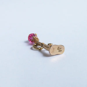 Nuvo Gold Pink Crystal Street Light Dog and Cat Charm
