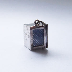 Vintage Deck of Playing Cards Charm Sterling Silver Pendant