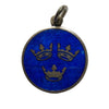 Three Swedish Crowns Blue Enamel Charm