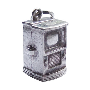 Vintage Silver Television Charm Opens to Camera