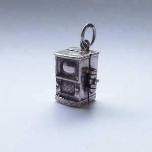 Vintage Silver Television Charm Opens to TV Camera