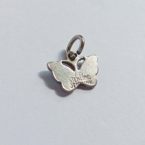 Volmer Bahner Butterfly Charm Sterling Silver Reverse Makers Mark