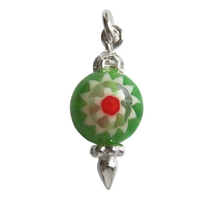 Murano glass Christmas ornament charm