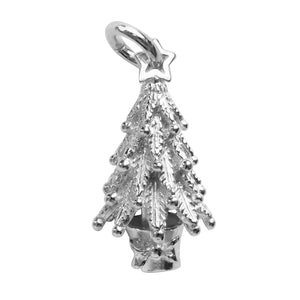 Christmas Tree Charm Sterling Silver or Gold