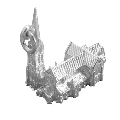 Christchurch Cathedral New Zealand Charm in Sterling Silver