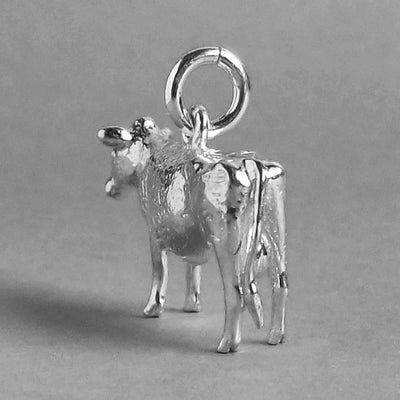 Cow Charm Sterling Silver Rear