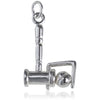 Sterling Silver Croquet Mallet and Ball Charm