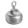 Sterling silver curling stone charm