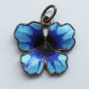 Vintage David Andersen Norway Blue Pansy Flower Charm