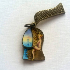 Edwardian enamelled European seaside souvenir bather charm