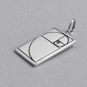 Sterling Silver Golden Ratio Symbol Charm