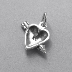 Heart and Arrow Sterling Silver Charm