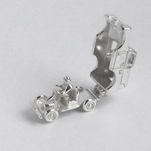 Landrover 4WD Charm Sterling Silver Vehicle Pendant
