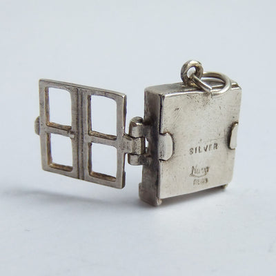 Bookcase charm by Nuvo sterling silver enamel