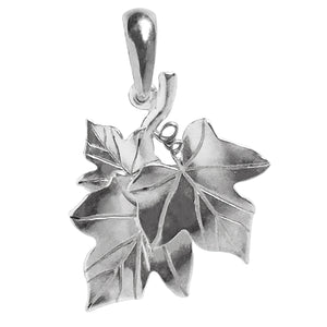Ivy Leaves Pendant Sterling Silver or Gold Leaf