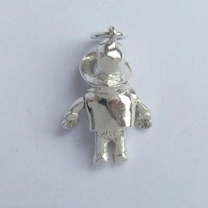 Paddington Bear Charm Sterling Silver Toy Pendant