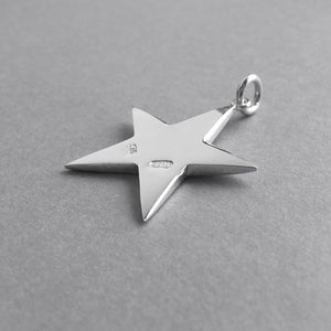 Five Pointed Star Charm Sterling Silver Pendant