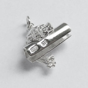 Barrister Wig and Lawyer Brief Sterling Silver Charm