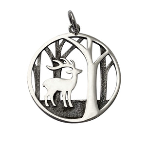 Deer in the Woods Charm