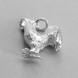 Sterling silver cockerel pendant