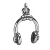 Sterling Silver Music Headphones Charm