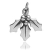 Sprig of Christmas Holly Sterling Silver Charm