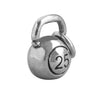 Kettle bell charm sterling silver pendant