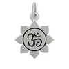 Sterling Silver Lotus Flower Ohm Centre Charm