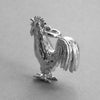 Cockerel bracelet charm in sterling silver